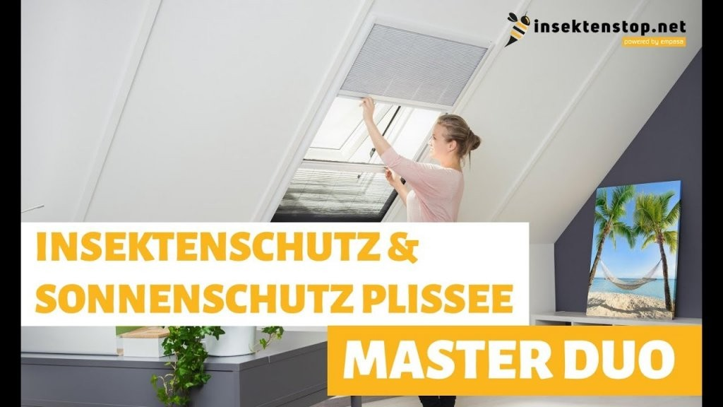 Insekten  Sonnenschutz Dachfenster Plissee  Montageanleitung von Roto Dachfenster Plissee Ohne Bohren Bild