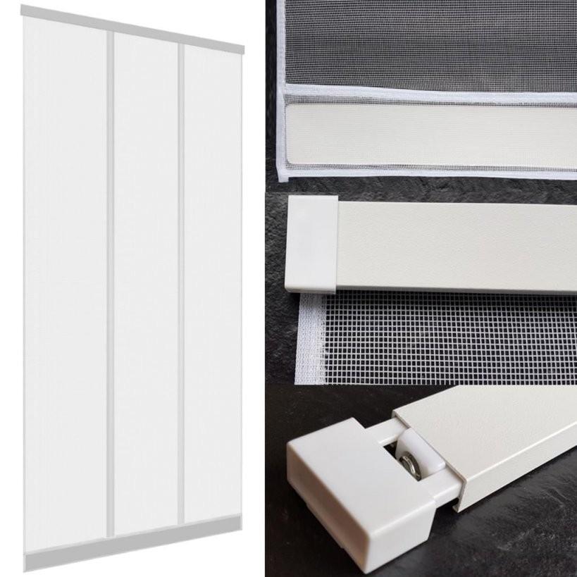 Insektenschutz Tür Vorhang 100 X 220 Cm In Weiß Mit A  Real von Insektenschutzvorhang Für Türen Mit Magnet Bild