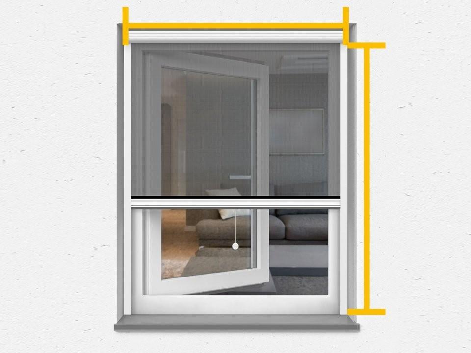 Insektenschutzrollo  Fliegengitterrollo  Für Fenster  Türen von Jalousie 140 Cm Breit Bild