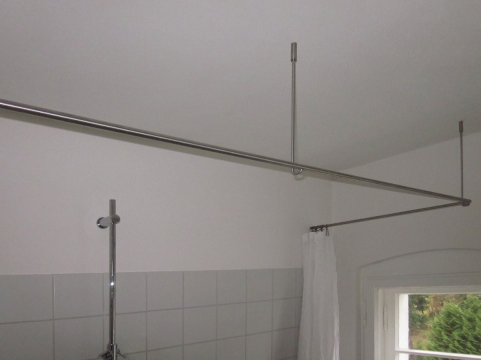 Inspiration – Duschvorhangstange  Phos Edelstahl Design von Duschvorhangstange Badewanne L Form Bild