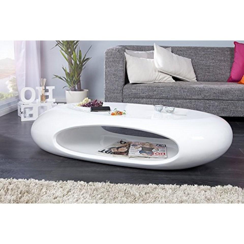 Invicta Interior Organic Ii Design Couchtisch Hochglanz Lack Weiss von Couchtisch Hochglanz Weiß Oval Bild
