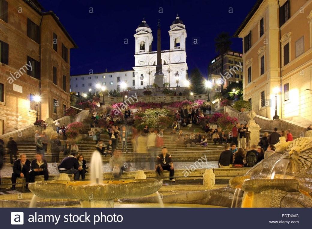 Italien Rom Scalinata Della Trinità Dei Monti Sterben Spanische von Webcam Rom Spanische Treppe Photo