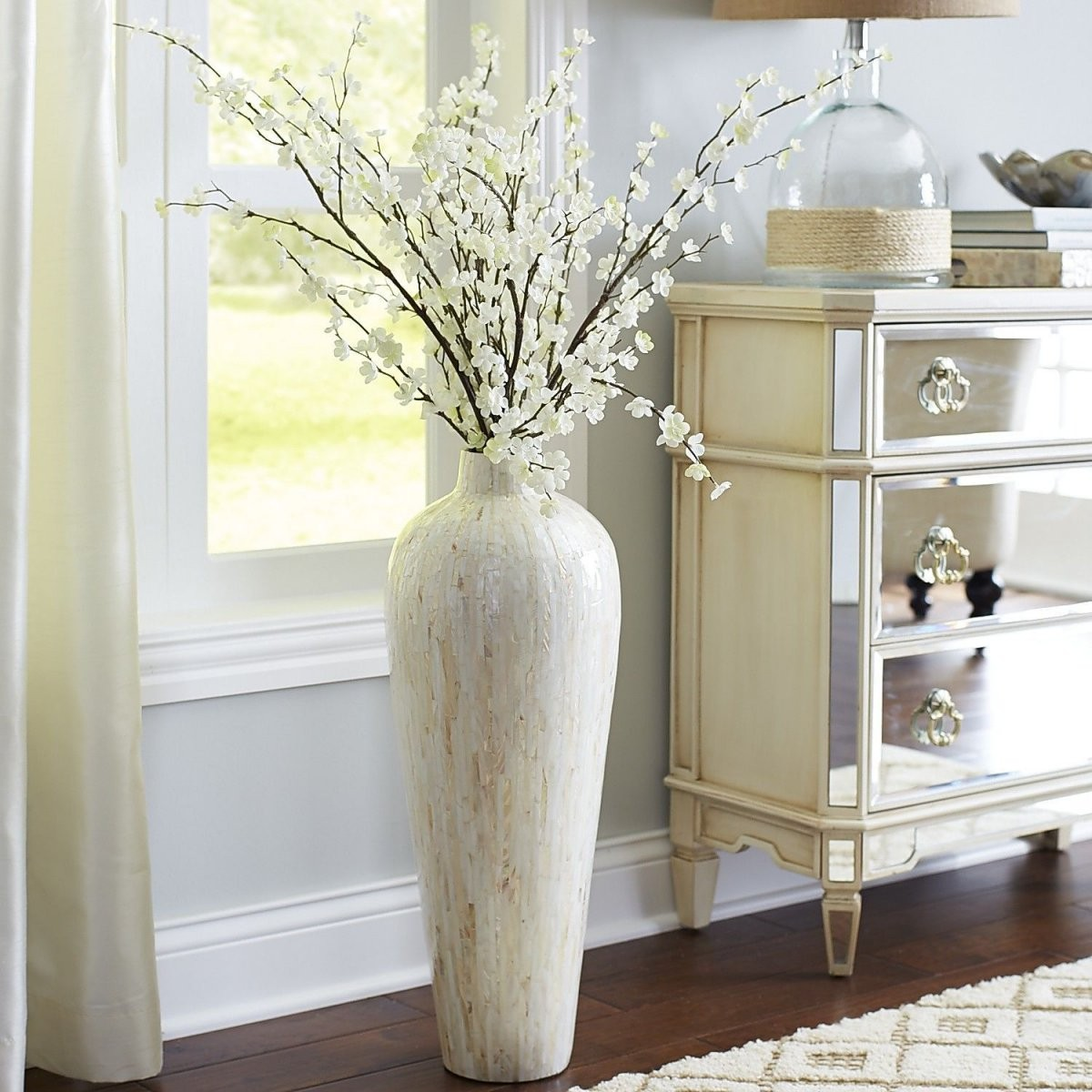 Ivory Motherofpearl Floor Vase  For The Home  Floor Vase Decor von Large White Floor Vase Photo