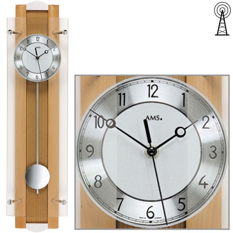 Jilemo Juwel Uhren  Schmuck  Ams 525918 Wanduhr Funk Funkwanduhr von Funk Wanduhr Mit Pendel Modern Bild