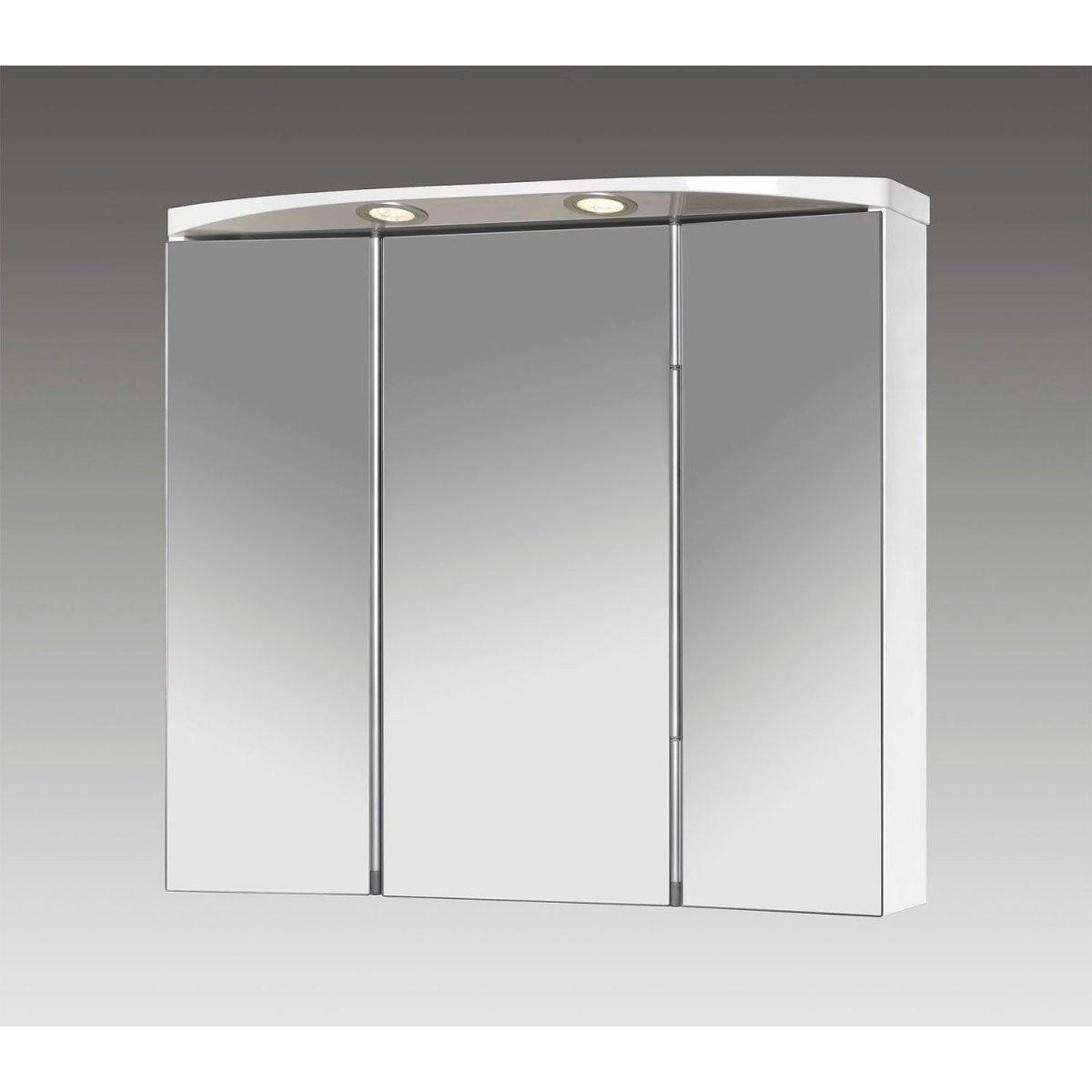 Jokey Spiegelschrank Lauria Led 70 Cm X 64 Cm X 22 Cm Weiß Eek A von Spiegelschränke Mit Led Beleuchtung Bild