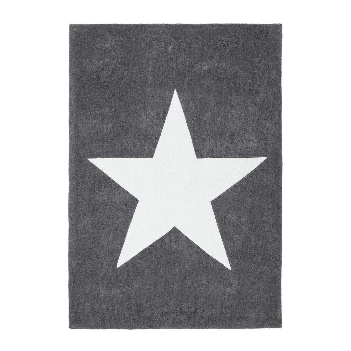 Jugendteppich Mit Stern  Yildiz Grau  Sternenteppich Flachflor von Teppich Mit Sternen Grau Bild