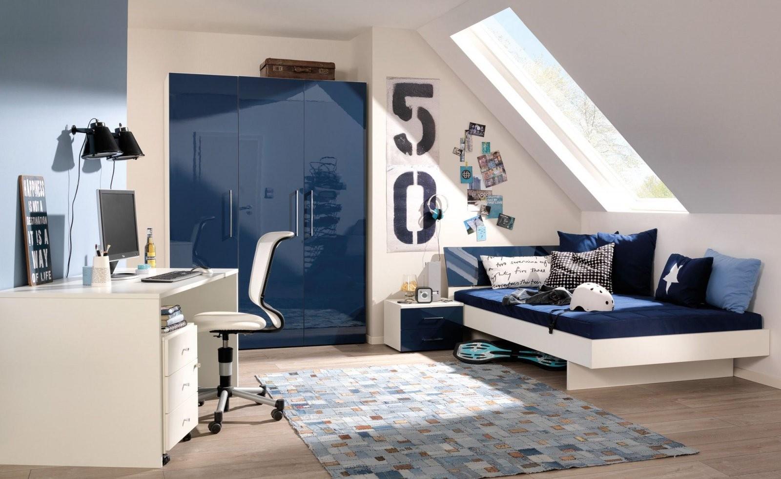 Jugendzimmer In Dunkelblau Und Creme Gestalten  Подростковая  Ikea von Ikea Jugendzimmer Für Jungs Photo