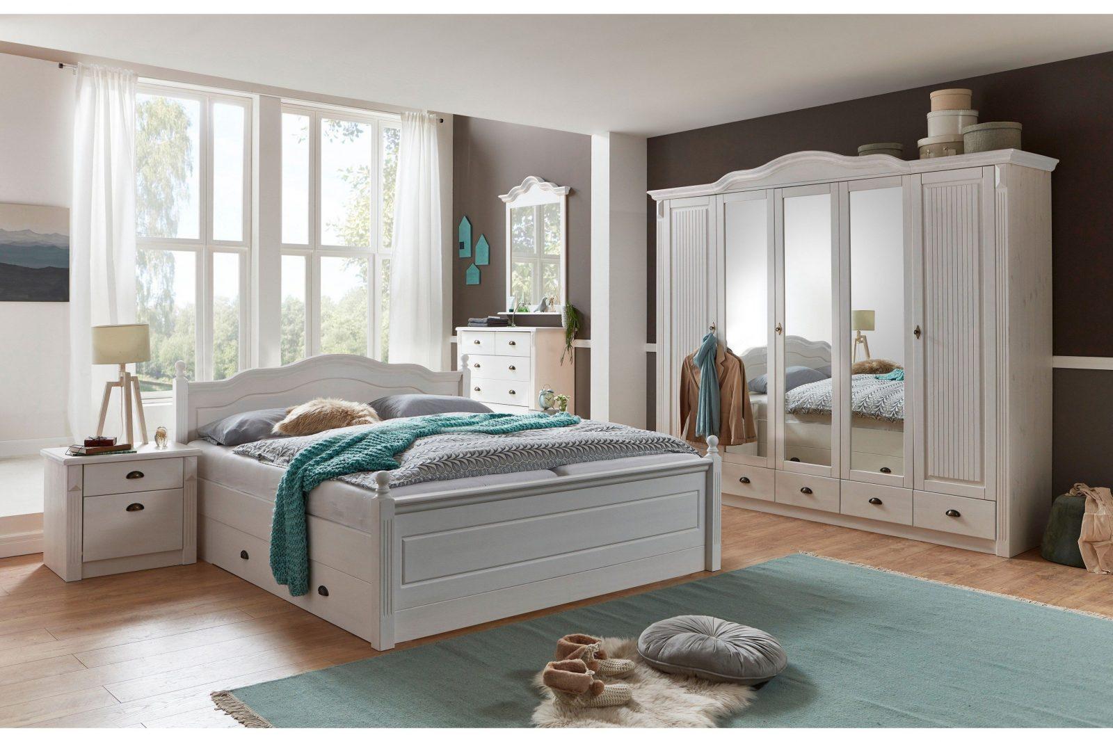 Jumek Inga Schlafzimmerset Kiefer Weiß  Möbel Letz  Ihr Onlineshop von Schlafzimmer Im Landhausstil Weiß Photo