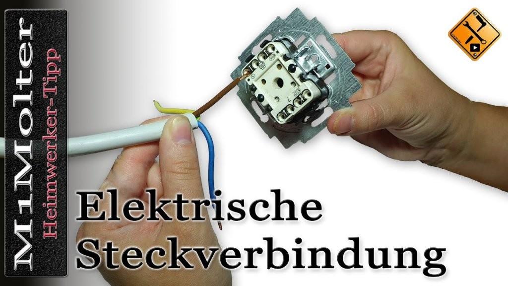 Kabel An Lichtschaltern Und Steckdosen Anschließen  Steckverbindung von Steckdose An Lichtschalter Anklemmen Photo