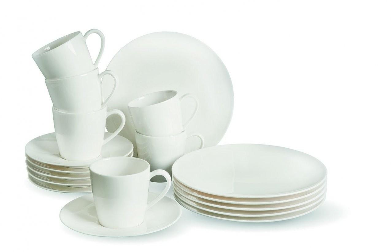 Kaffeeservice Basic White Porzellan Weiß Villeroy  Boch 195277 von Villeroy Und Boch Geschirr Basic White Photo