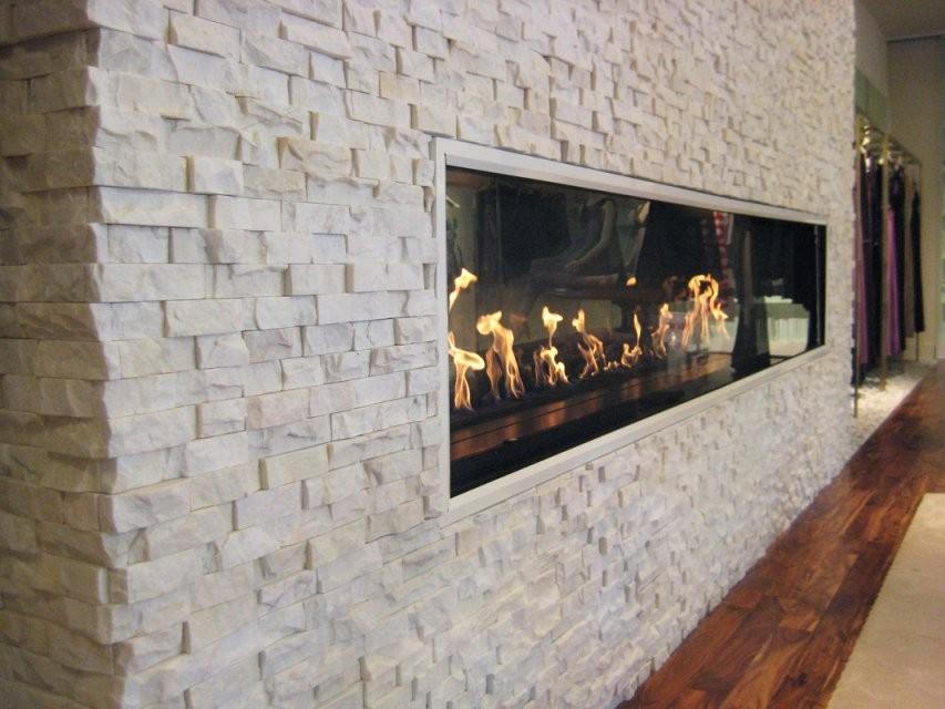 Kamin Stein Wandverkleidung  Naturstein Stein Verkleidung von Kamin Mit Steinen Verkleiden Bild