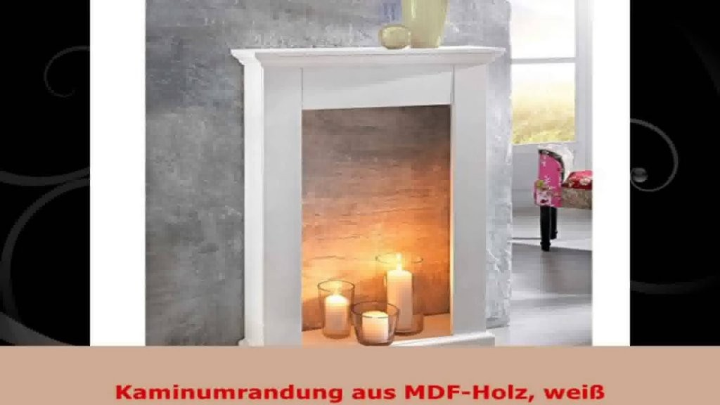 Kaminumrandung Aus Mdfholz Weiß  Youtube von Deko Kaminumrandung Selber Bauen Bild