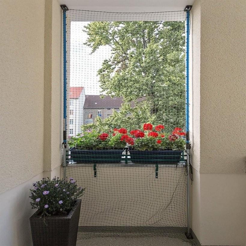 Katzenschutznetz Für Den Balkon Oder Fenster Mit H  Real von Katzenschutznetz Balkon Ohne Bohren Photo