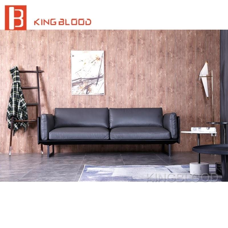 Kaufen Sofa Aus China Reine Grau Leder Wohnzimmer Möbel Sofa Set von Bilder Für Wohnzimmer Kaufen Bild