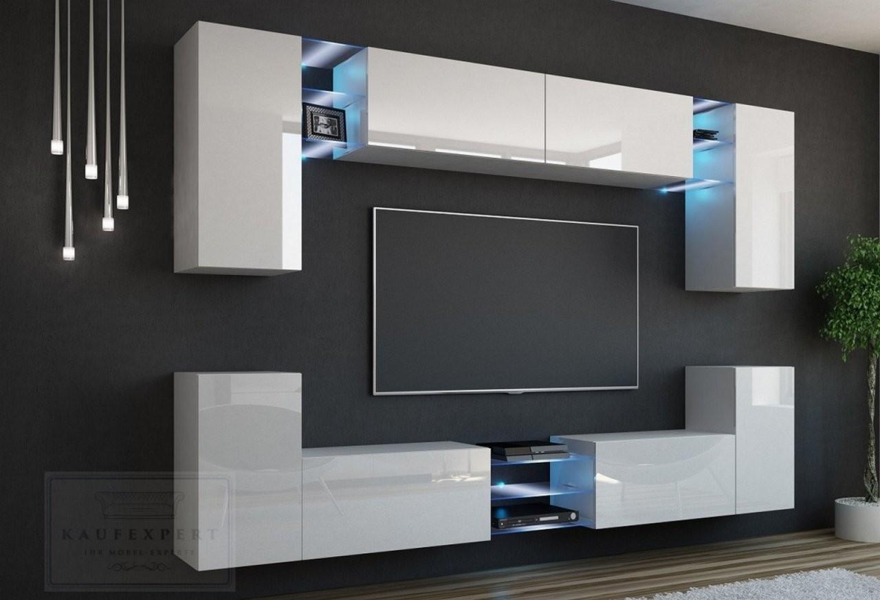 Kaufexpert  Wohnwand Splash Weiß Hochglanzweiß Mediawand von Wohnwand 270 Cm Breit Bild