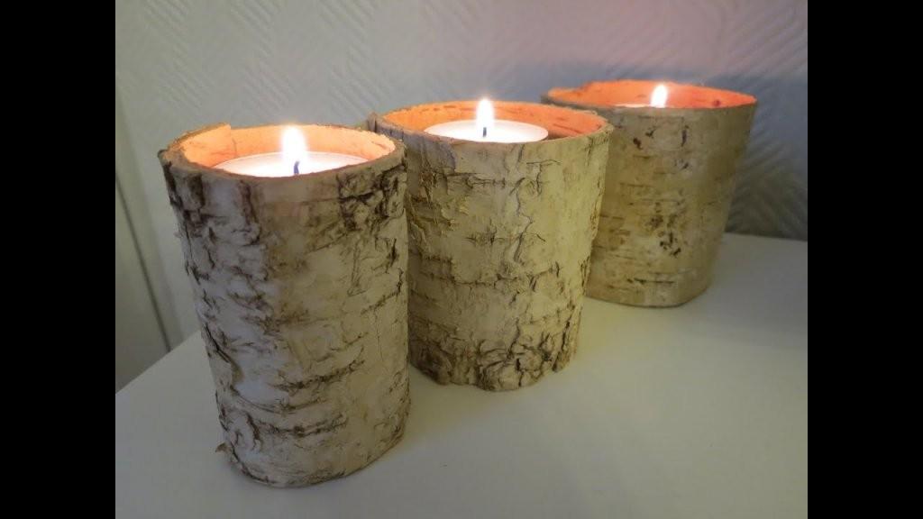 Kerzenhalter Selber Machen * Einfach Schnell  Günstig  Youtube von Holz Kerzenständer Selber Machen Photo