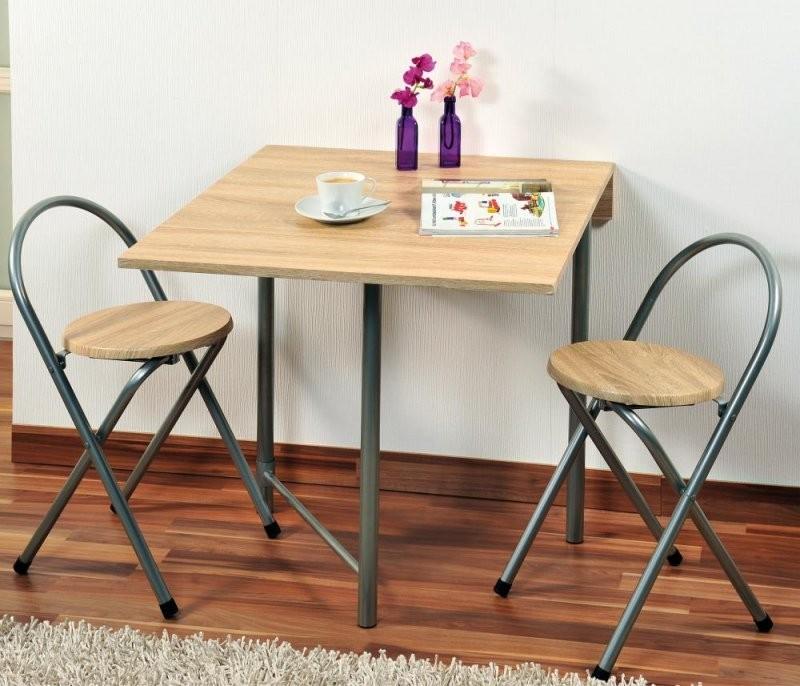 Kesper Küchentisch Mit 2 Stühlen Aus Metall Und Eichendekor 3Erset von Bistrotisch Mit 2 Stühlen Bild