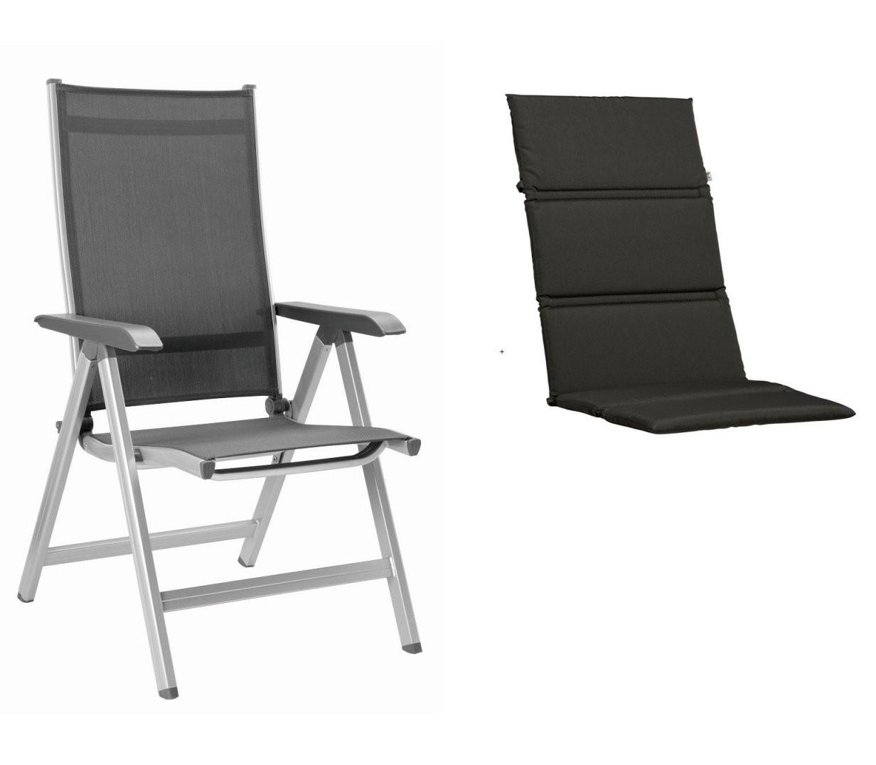 Kettler Basic Plus Klappsessel Silber + Auflage  Stühle  Tische von Kettler Auflagen Basic Plus Photo