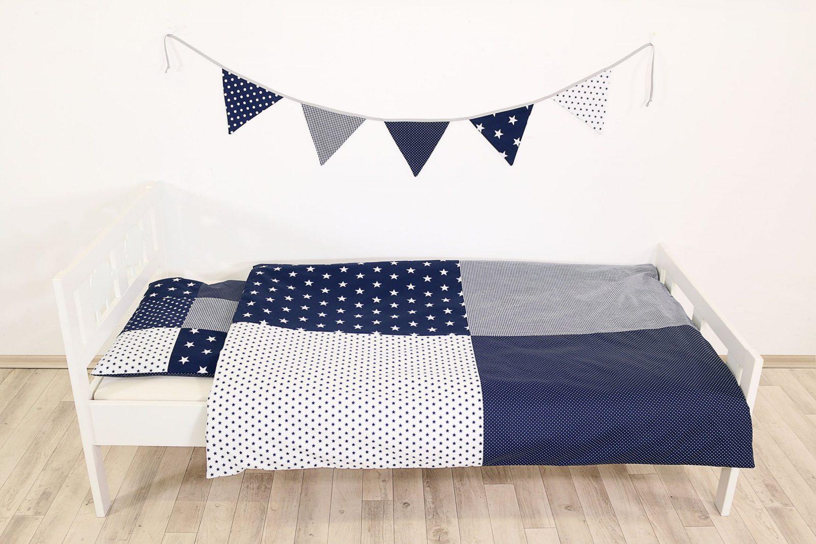 Kinder Bettwäscheset 100X135 Cm Und Kissenbezug 40X60 Cm  Blaue von Bettwäsche 100X135 Sterne Bild