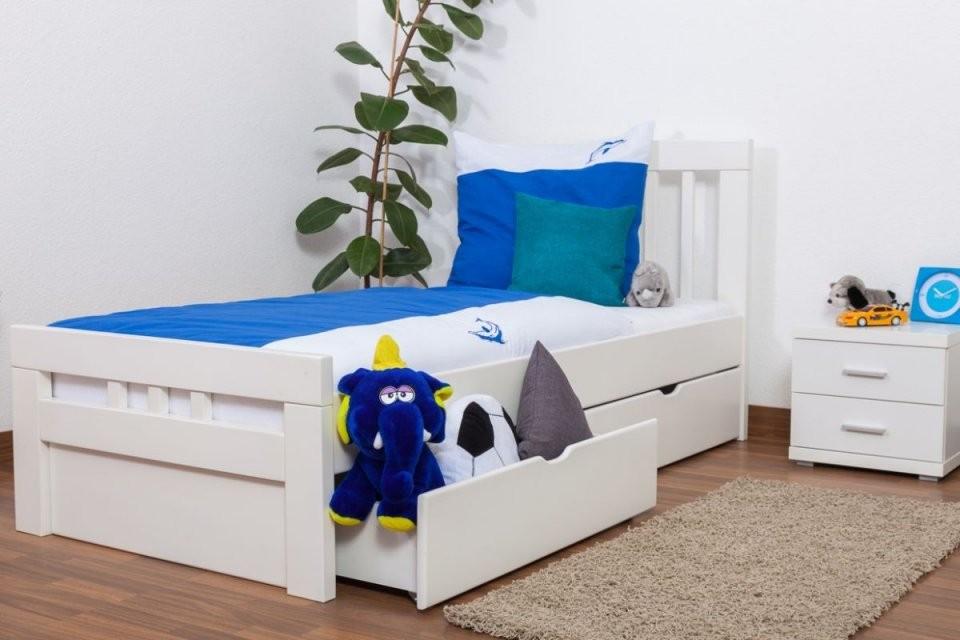 """Kinderbett  Jugendbett """"easy Premium Line"""" K8 Inkl 2 Schubladen von Kinderbett Weiss Mit Schublade Bild"""