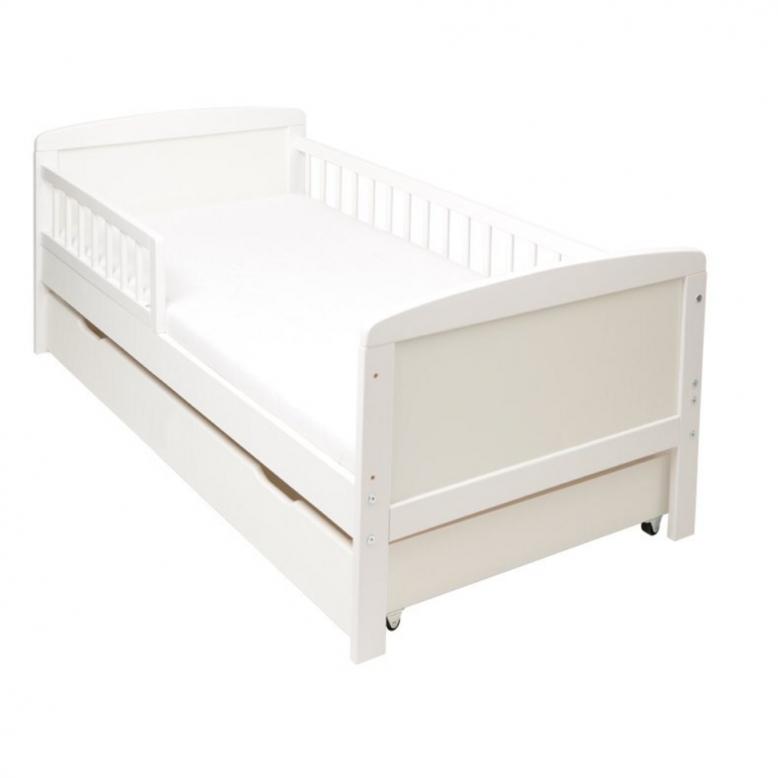 Kinderbett Juniorbett Weiß 140X70 Mit Schublade Und Matratze  Baby von Kinderbett Weiss Mit Schublade Bild