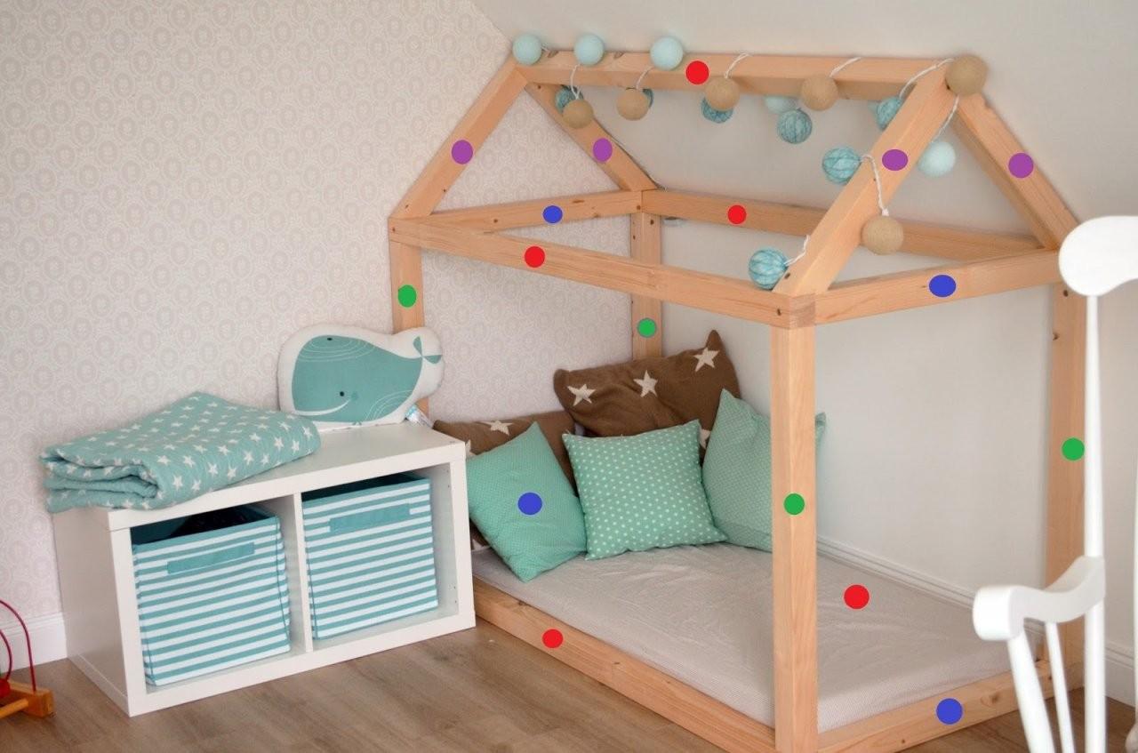 Kinderbett Selber Bauen Detaillierte Bauanleitung Kuschelhaus  Dekohus von Kinderbett Selber Bauen Haus Bild