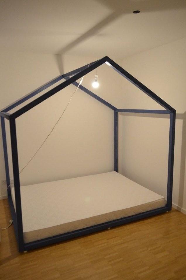 Kinderbett Selber Bauen Xxlhausbett Bauanleitung  Kinderzimmer von Außergewöhnliche Betten Selber Bauen Photo