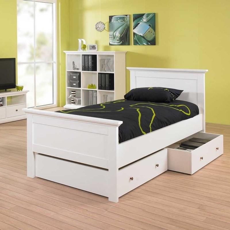 Kinderbett Swington In Weiß Mit Schubladen  Pharao24 von Kinderbett Weiss Mit Schublade Bild