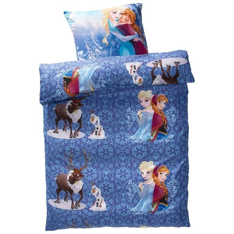 Kinderbettwäsche Eiskönigin Preiswert  Dänisches Bettenlager von Bettwäsche Eiskönigin Dänisches Bettenlager Bild
