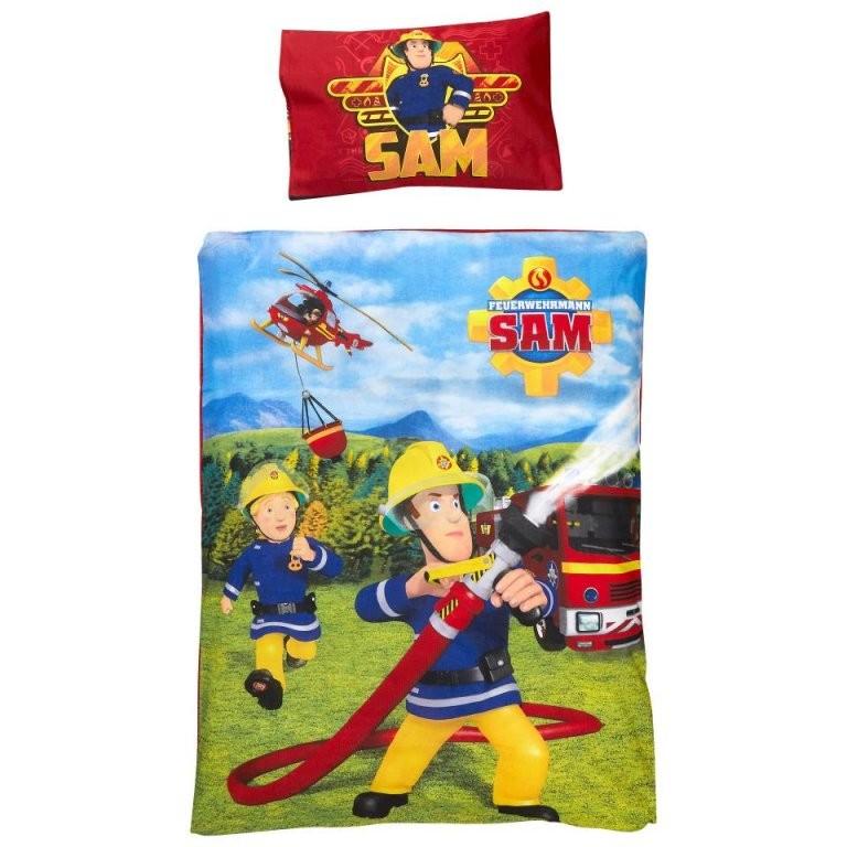 Kinderbettwäsche Feuerwehrmann Sam (100X135)  Dänisches Bettenlager von Bettwäsche 100X135 Jungen Photo