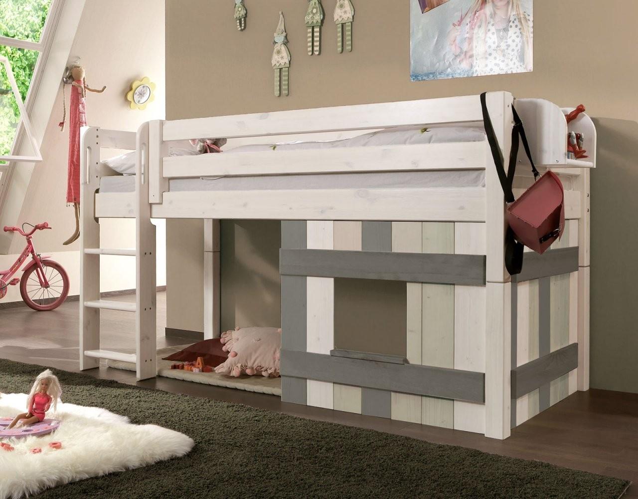 Kinderhochbett  Kinderhochbetten Günstig Kaufen  Betten von Kinderhochbett Mit Rutsche Günstig Kaufen Bild