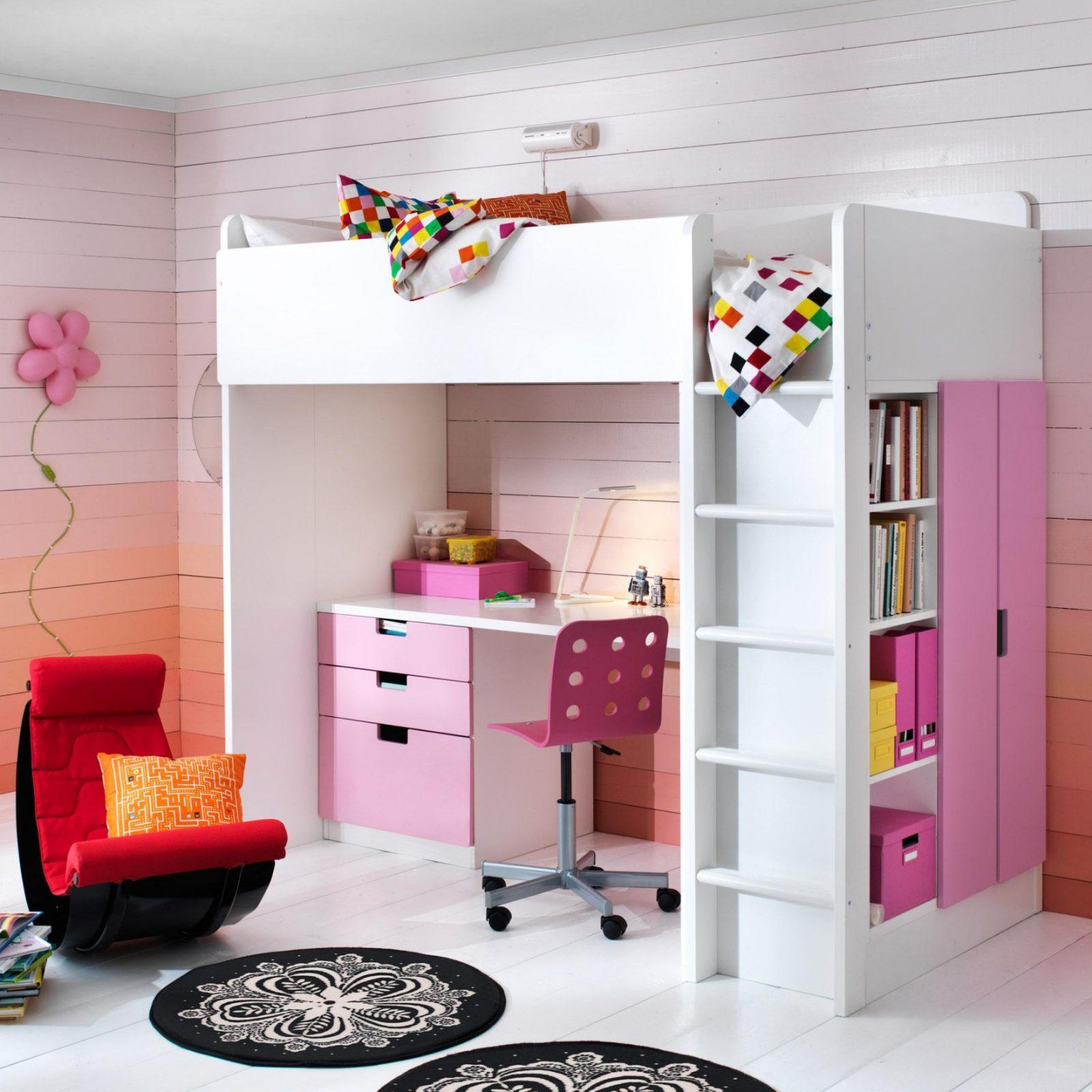 Kinderhochbett Von Ritterburg Bis Prinzessinenschloss von Ikea Hochbett Mit Schreibtisch Und Schrank Bild