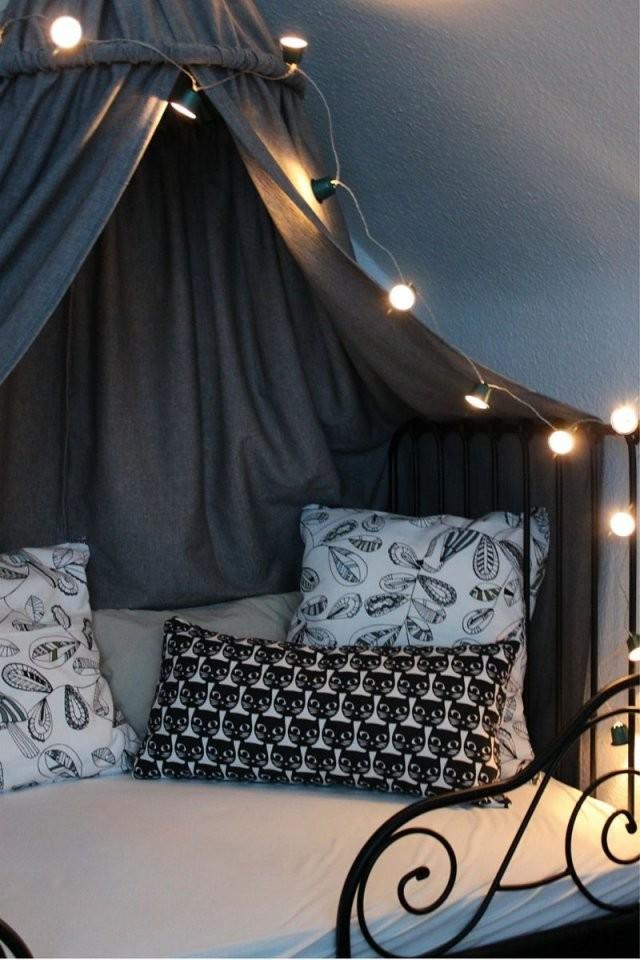 Kinderzimmer Diy Baldachin Zelt Hölle Himmelbett Lichterkette von Himmel Für Bett Ikea Photo