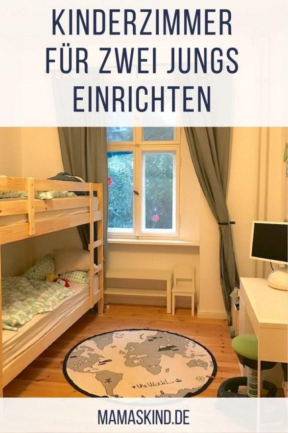 Kinderzimmer Für Zwei Jungs  Ideen Zum Einrichten Mit Etagenbett von Kleines Kinderzimmer Für Zwei Einrichten Bild