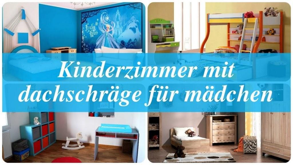 Kinderzimmer Mit Dachschräge Für Mädchen  Youtube von Kinderzimmer Mit Dachschräge Einrichten Photo