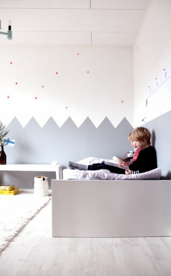Kinderzimmer Wandfarbe Nach Den Feng Shui Regeln Aussuchen von Wandgestaltung Kinderzimmer Mit Farbe Bild
