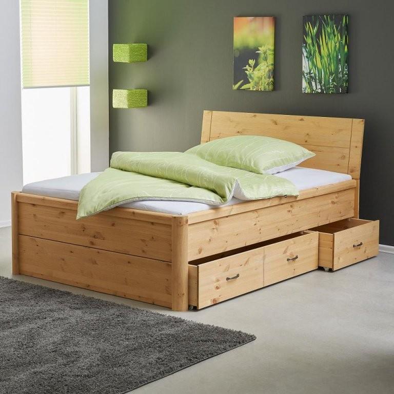 Klassisches Bett Aus Massiver Kiefer Preiswert  Dänisches Bettenlager von Bett Mit Aufbewahrung 140X200 Photo