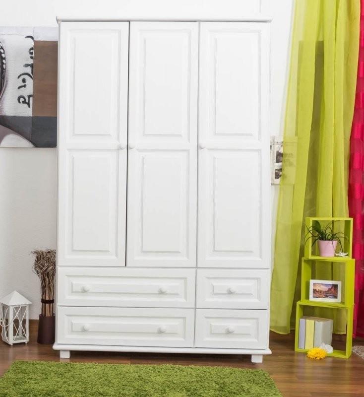 Kleiderschrank Breite 120 Cm Farbe Weiß Türen 3 Höhe (Cm) 190 von Kleiderschrank Weiß 120 Cm Breit Bild