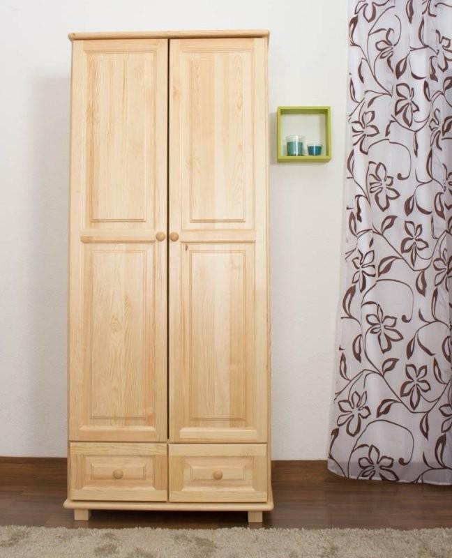 Kleiderschrank Kiefer Vollholz Massiv Natur 012  Abmessung 190 X 90 von Schrank 90 Cm Breit Bild