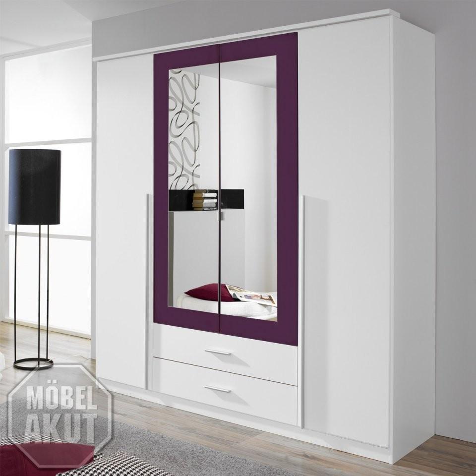 Kleiderschrank Krefeld Weiß Und Lila Mit Spiegel 181 Cm 2 von Kleiderschrank Weiß Lila Mit Spiegel Bild