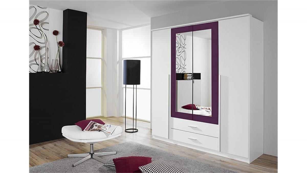 Kleiderschrank Krefeld Weiß Und Lila Mit Spiegel 181 Cm von Kleiderschrank Weiß Lila Mit Spiegel Bild