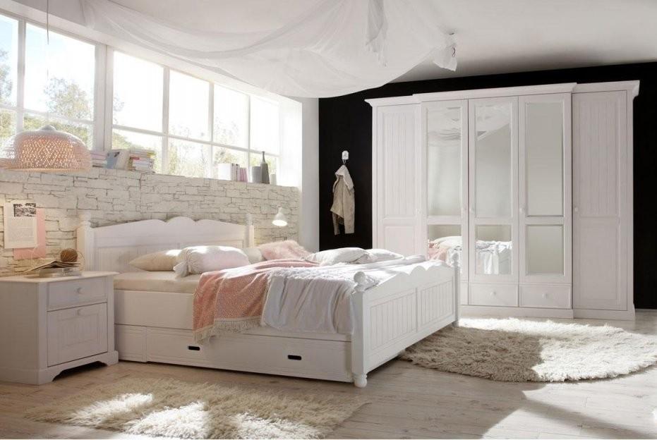 Kleiderschrank Landhausstil  Cinderella  Romantik Stil Weiß  T40 von Schlafzimmer Im Landhausstil Weiß Bild