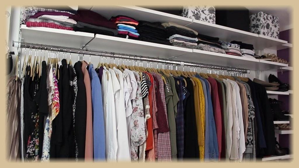 Kleiderschrankwand  Begehbarer Kleiderschrank  Walk In  Regalraum von Offenen Kleiderschrank Selber Bauen Photo