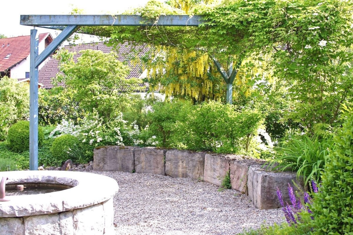 Kleine Gärten Gestalten Ohne Rasen Schön Garten Sitzplatz Trendy Für von Sitzplatz Im Garten Gestalten Bild