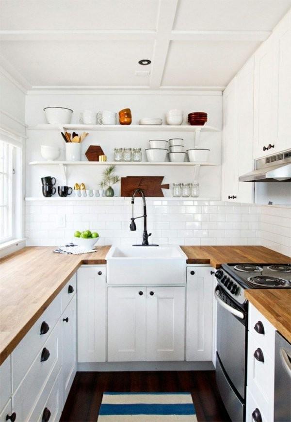 Kleine Küche Clever Einrichten  Varianten  Tipps Für Beste von Kleine Schmale Küche Einrichten Bild
