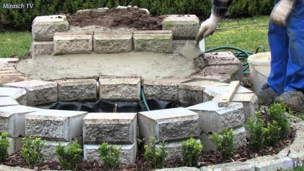 Kleine Wasserfall Im Garten Bauenvideo 1  Youtube von Wasserfall Garten Bauen Anleitung Photo
