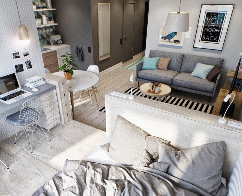 Kleine Wohnung Modern Und Funktionell Einrichten In 2019  Tiny von 1 Zimmer Wohnung Dekorieren Photo