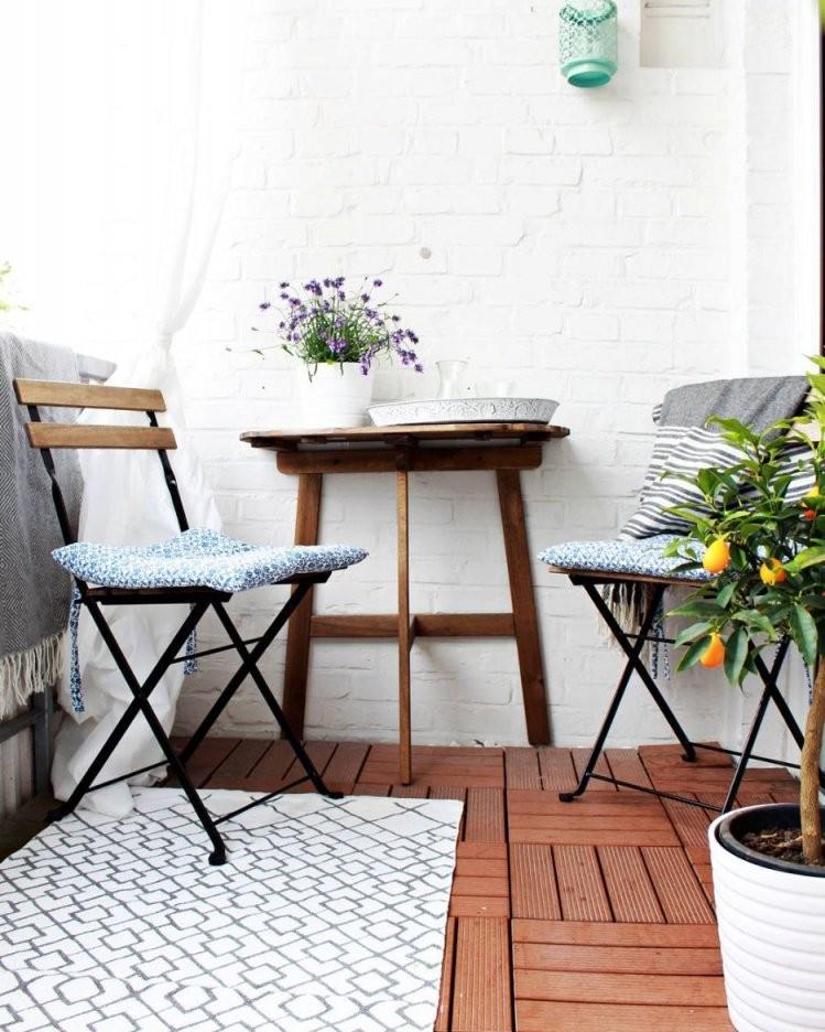 Kleinen Balkon Gestalten  Wohnkonfetti von Balkon Ideen Kleiner Balkon Bild