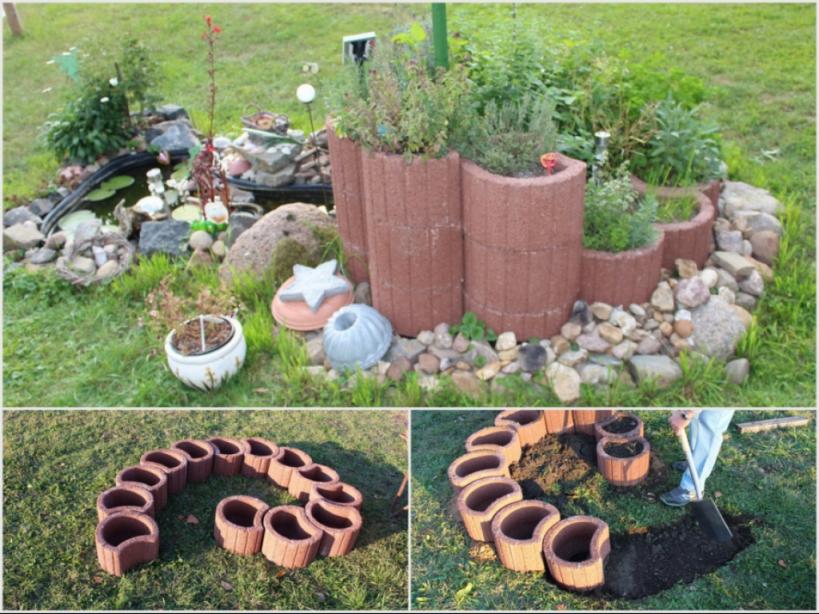 Kleinen Garten Mit Pflanzsteinen Gestaltentoom Kreativwerkstatt von Garten Gestalten Mit Pflanzsteinen Bild
