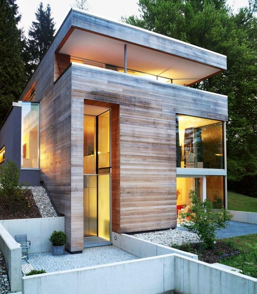 Kleiner Grundriss Am Hang  Modernes Einfamilienhaus  Hanglage von Einfamilienhaus Am Hang Grundrisse Bild